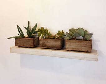 Handmade 30 Inch Long One Level Wall Shelf In Color Of Your