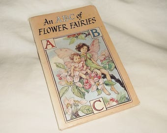 Vintage An ABC of FLOWER FAIRIES • fold-out aplphabet cards • Cicely M. Barker • Blackie
