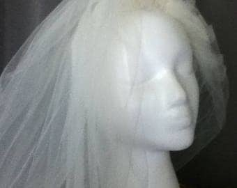 3 Tier Bridal Veil length 60 inches Ivory