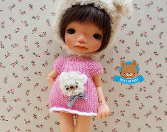 Bear set, dress and hat, for IRREALDOLL Ino, Enyo, Erin, Mei...
