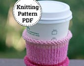 Knitting Pattern   Knitted Cup Cozy   Cup Cozy Pattern   Knitting Tea Cozy Pattern   Tea Cozy Pattern   Easy Cup Cozy Pattern