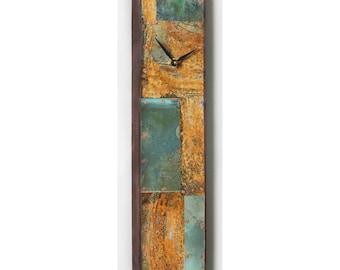18 x 4 inch Copper Clock