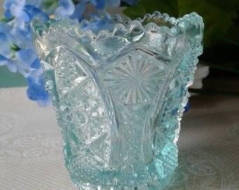 Vintage Light Blue Imperial Glass Holder