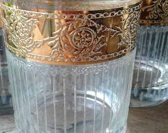 Drinking Glasses with Gold Trim Vintage