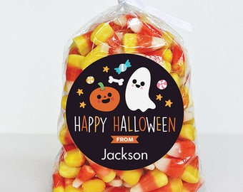 Halloween Stickers - Pumpkin and Ghost - Sheet of 12 or 24