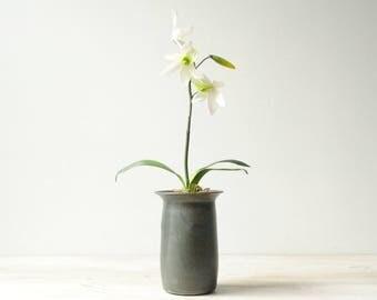 Vintage Vase, Gray Studio Pottery Vase, Handmade Vase, Flower Vase, Decorative Vase