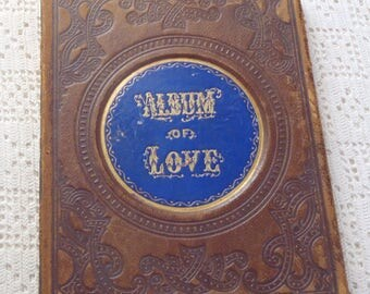 Vintage Album of Love Autographs from Glenwood Ladies Seminary W. Brattleboro, VT 1864-1871