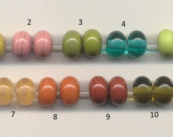 Tom's lampwork pick your color spacer pairs, 2 spacers, 1 pair 95653