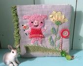 hand embroidered needlebook