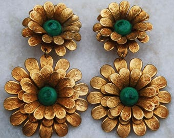 Vintage Babylone París earrings, vintage jewelry, clip back earrings BABYLONE PARIS