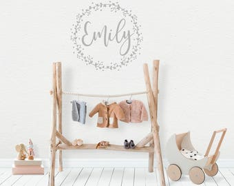 Superior Personalised Wall Stickers, Baby Girl, Wall Decal, Garland, Wreath Wall  Decor, Part 32