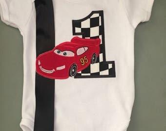 Baby Boy First Birthday outfit onesie