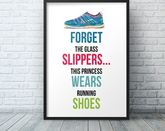 Runner Gift, Just Run, Fitness Motivation, Crossfit Poster, Gym Motivation, Typography, Wall Art, Inspirational Quote, Poster Motivational