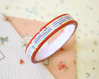 Delightful Song colorful cartoon deco tape