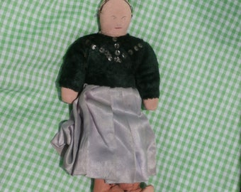 Sweet Old Vintage Rag Doll, Cloth Doll Possibly Navajo, Missing Her Hair
