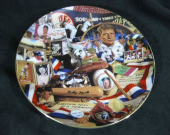 MICKEY MANTLE Hamilton Coll. N.Y. Yankees Collectors Plate Mementos Of The Mick