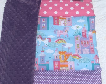 Pretty Purple Princess Quilted Nap Mat by Janiebee Toddler Nap Mat, Nap Rolls PERSONALIZED