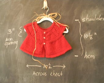 Baby Girl's Deep Red Knit Smock