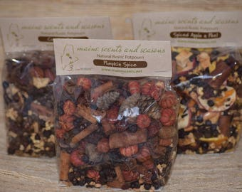 NEW Fall Trio Natural Simmering Potpourri  SHIPPING INCLUDED