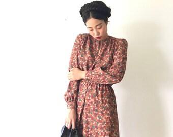 Aki, Japanese vintage dress, small - medium