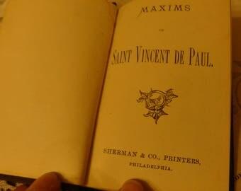 Tiny Saint Vincent de Paul Maxims Victorian Catholic spiritual daily readings