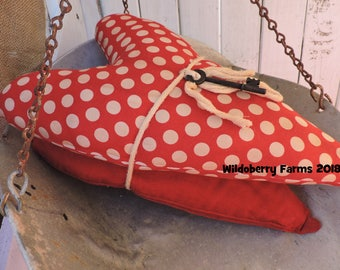 Happy Valentines Key to my Heart Vintage Fabric Pillows