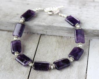 Amethyst Bracelet, February Birthstone Jewelry