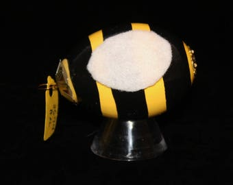 Hand decorated Blown Egg Ornament (Bee)