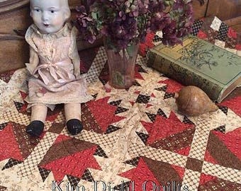 Raspberry Cocoa Quilt Kit from Kim Diehl's Simple Whatnots Club 6 using her Katie's Cupboard Collection for Henry Glass Fabrics