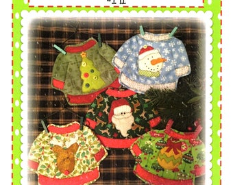 Ugly Sweaters Mug Rugs packaged pattern QD-141