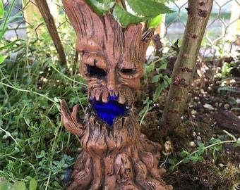 SALE Mini Spooky Evil Tree, Light Up Tree, Miniature Garden Decor, Shelf Sitter, Topper, Crafts, Mini Tree with Lights, Garden Accessory