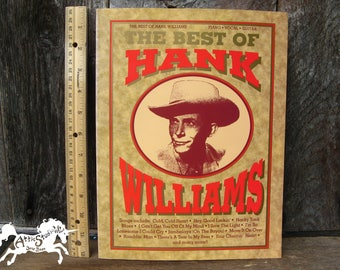HANK WILLIAMS SONGBOOK for Piano Guitar Vocal, 38 Songs, The Best of Hank Williams, Words Lyrics & Music, 1990 Sheet Music Softbound Book