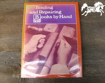 Vintage diy book etsy binding and repairing books by hand by david muir 1978 hardback book illustrated by solutioingenieria Images