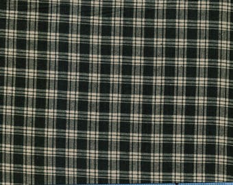 Hunter Green Homespun Plaid Fabric, 100% Cotton Fabric by the Yard, Quilt Fabric, Apparel, Home Decor, Craft Projects, Rustic Woven Fabric