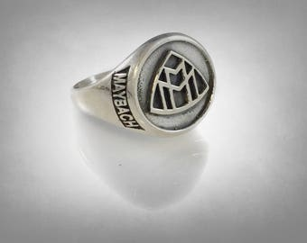 Mercedes Maybach Zeppelin ring sterling silver 925