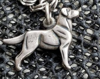 VINTAGE CHARM Sterling silver DOG