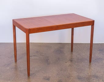 Small Danish Modern Teak Table with Leaf