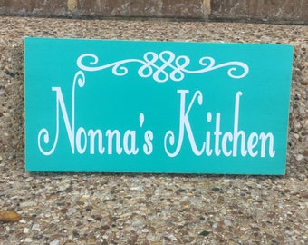 Grandma's Kitchen Wooden Sign ~Wood Kitchen Signs ~Mother's Day Gift ~Nonna's Kitchen ~Gifts For Grandma ~Mimi Gift ~Grandmother Gift