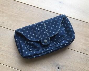 Minimalist Clutch in Japanese Linen