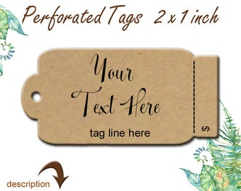 Tags, Personalized Tags, Custom Tags, Perforated Tags, 100 Tags, Product Tags, Merchandise Tags, Packaging Tags, Jewelry Tags, Necklace Tags