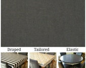For Rachel Laminated cotton aka oilcloth heavyweight tablecloth, fitted by ELASTIC, Dark Gray solid