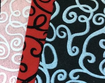 Fanci-Felt Swirl-9x12 Individual Felt Sheets-Discontinued Felt-Valentine Crafting-Acrylic Felt Sheets-Eco-Fi Felt Pieces-DIY Arts & Crafts