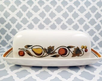 Vintage Franciscan Ware Whitestone PIckwick Butter Dish with Lid
