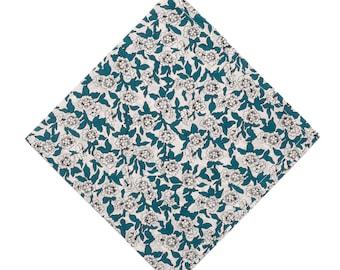 Pomp & Ceremony Pocket Square handkerchief Liberty of London Dynasty green