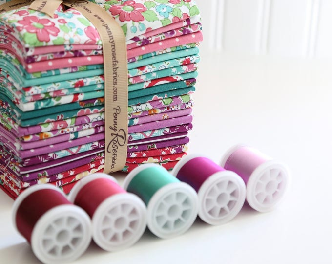 Fat Quarter Bundle - Prim and Proper Fabric by Lindsay Wilkes for Riley Blake Designs and Penny Rose Fabrics