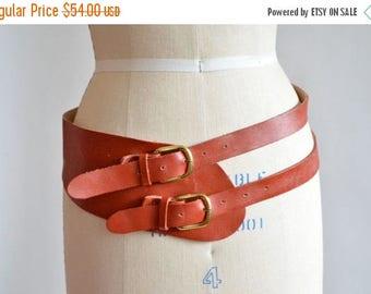 25% off Storewide // Vintage double strap LEATHER belt