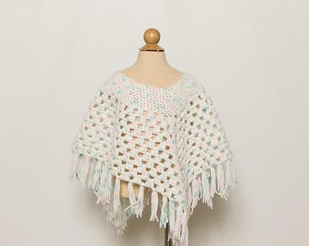 25% OFF vintage 1970s girl's poncho with fringe