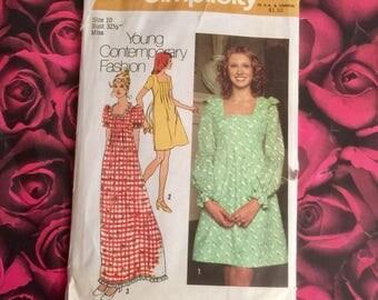 70's Vintage Simplicity Pattern #5012 Size 10