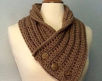 Crochet Big Button Cowl
