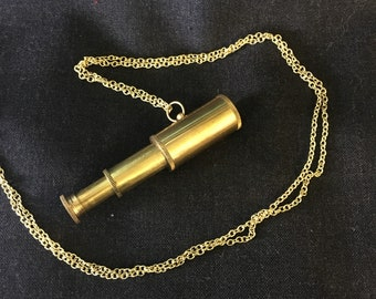 Handmade vintage adjustable (working) Telescope Necklace by Hello Stranger